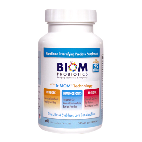 1- Biom Probiotics 3-in-1 Formula 25 Billion | Best supplements for gut health | Best Probiotics for gastro issues | 3-in-1 Formula