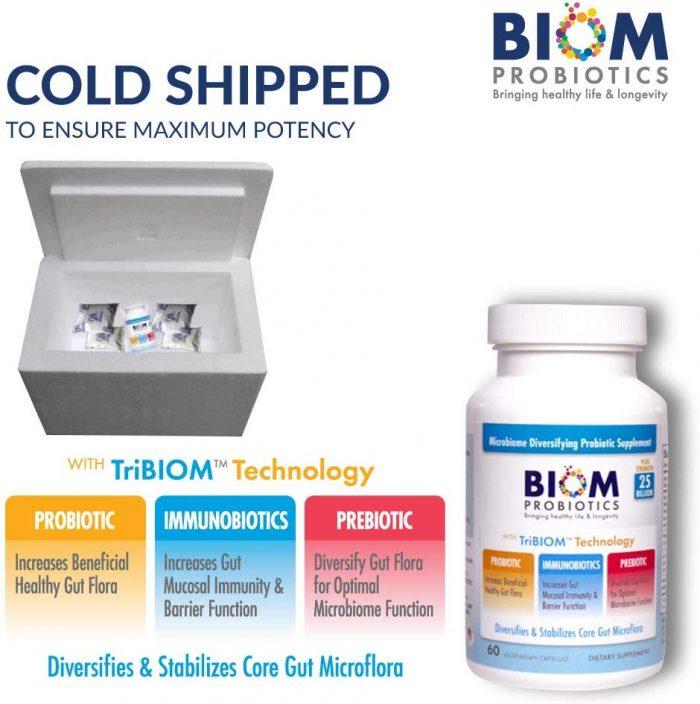 Biom Probiotics 3-in-1 Formula 25 Billion | Best supplements for gut health | Best Probiotics for gastro issues