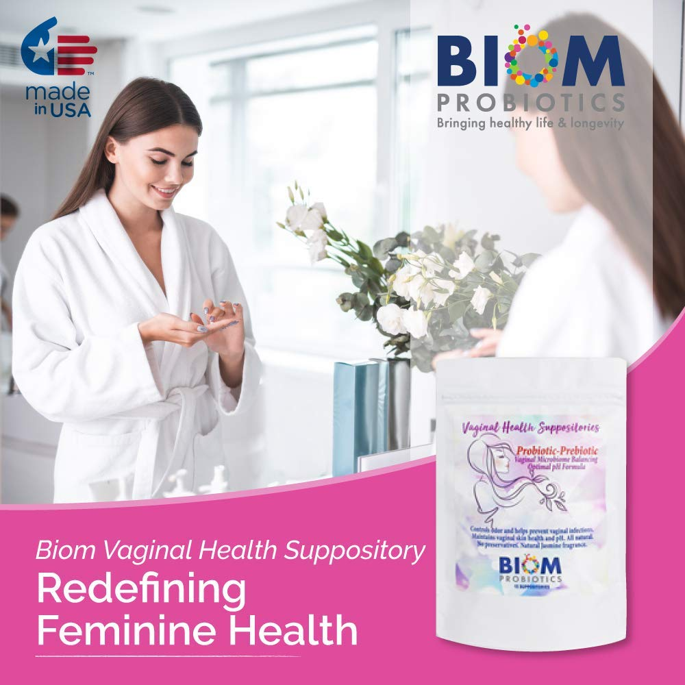 Gut Microbiome Human Health Probiotics | Biom Probiotics | Probiotics | Vaginal Health Suppository | BIOM Probiotic Vaginal Suppository