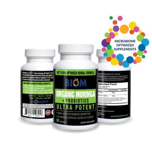 Energy Booster | Organic Moringa Powder + Probiotics | Biom Probiotics