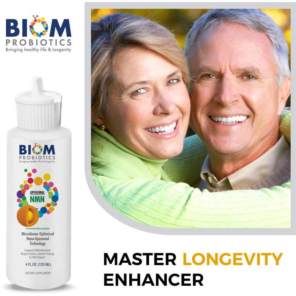 Support Healthy Aging | Biom Probiotics | BIOM Liposomal NMN | Healthy aging NMN Probiotic