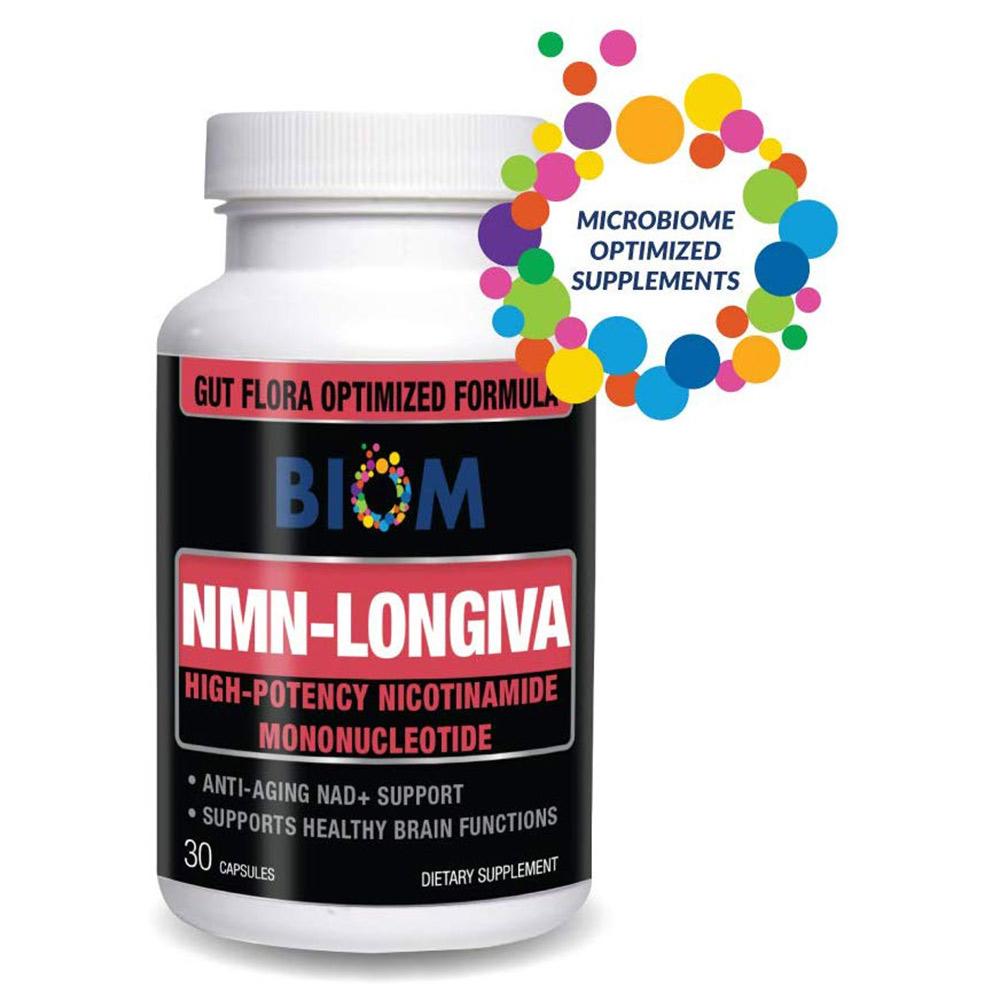 Supports Healthy Aging and Longevity | Biom Probiotics | Biom NMN Longiva | Biom Anti aging Probiotic | Healthy aging probiotic Supplement