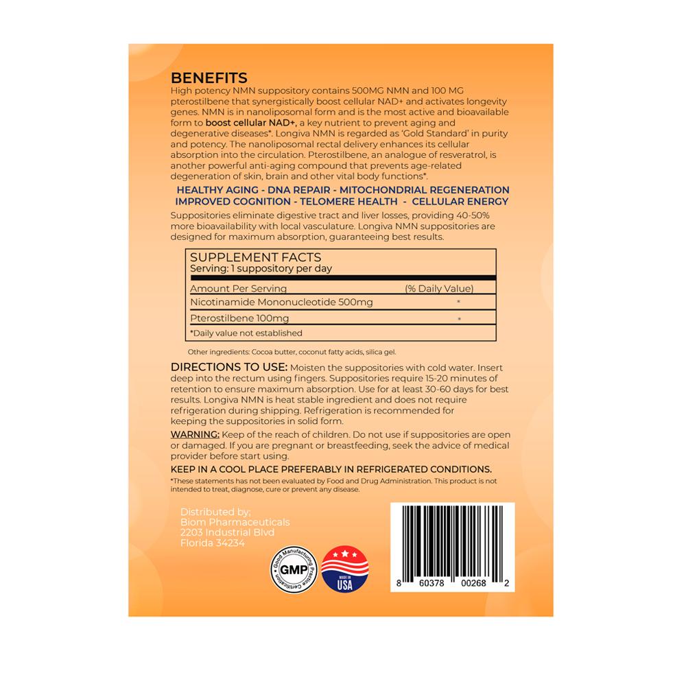 Pterostilbene Anti-Aging Suppository | Biom Probiotics